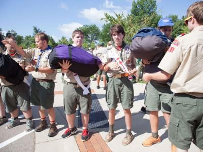 Arrrowmen Packing the Bus